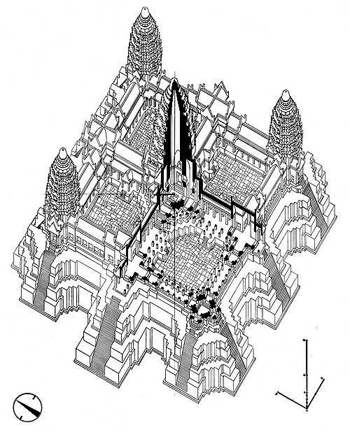 Angkor wat nafilyan central shrine blueprint